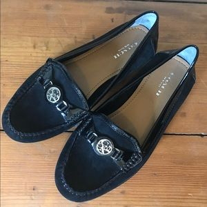 COACH Suede/ patent leather loafer NEVER WORN!